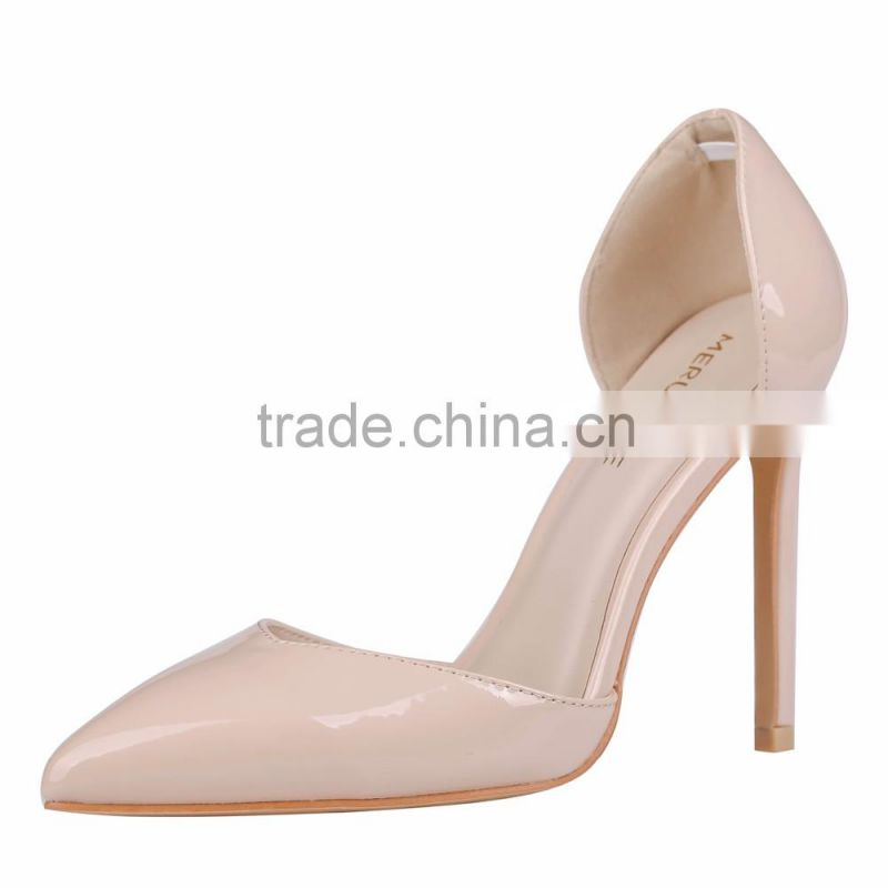 Summer Fashion Ladies' 11cm Pointed Toe Air Sides Pump High Heel Dress Shoes Ladies' Shoes 2016