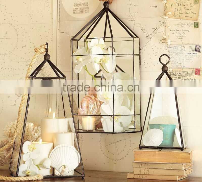 copper plated moroccan lantern
