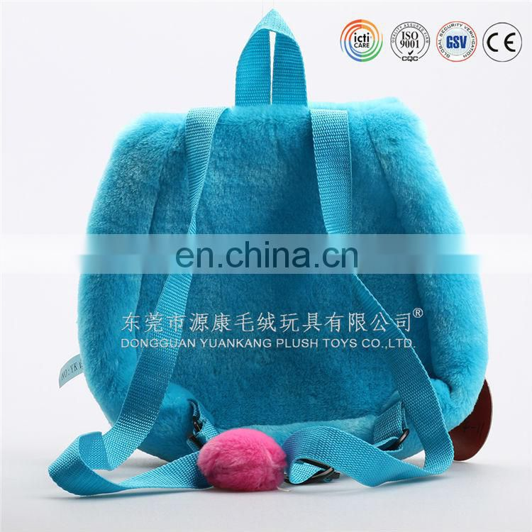 Best selling kids plush bag stuffed animal backpack