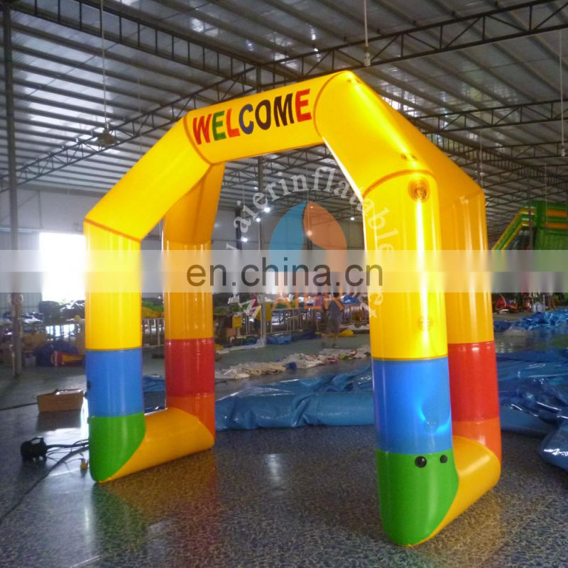 2017 beautiful hot sale inflatable arch pvc / cheap inflatable sealed arch with LED for sale