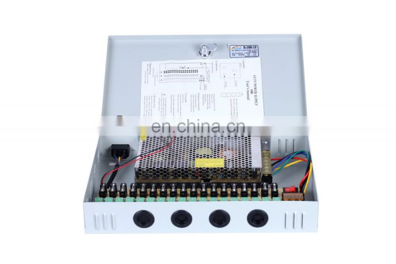 Security Monitor CCTV Camera Power Supply 12VDC Low Ripple / Noise