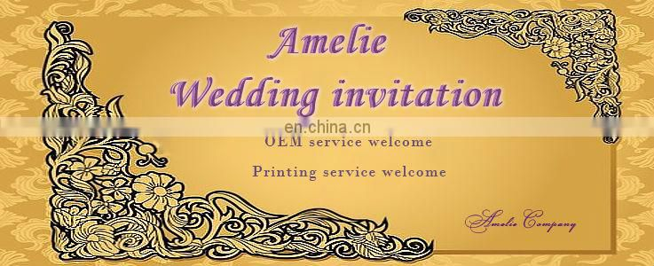 ABH1111 White Ribbon Bengali wedding invitation card