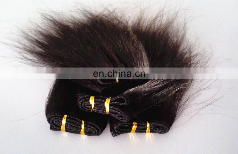High quality wholesale price grade 6A straight 6 inch hair weaving