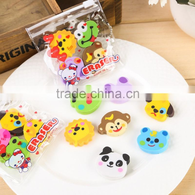 creative stationery cartoon eraser school fruit eraser Bunny eraser animal eraser