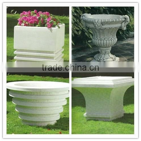 French style handmade craft stone cheap garden planter and pots NTMF-FP009Y