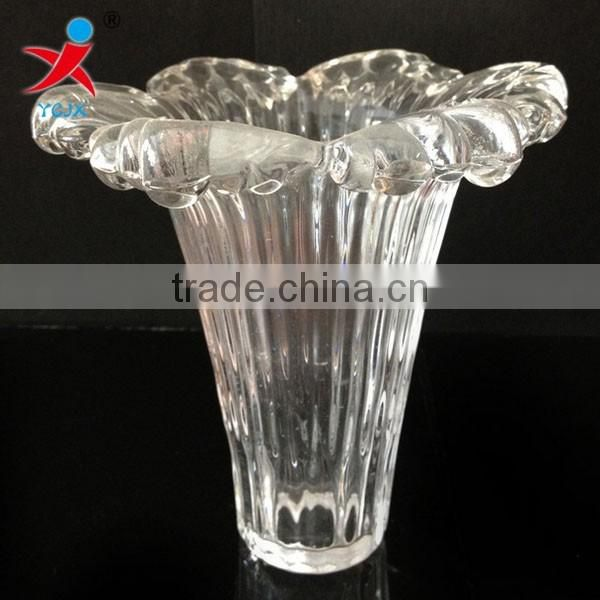High quality desk lamp transparent glass lampshade/machine pressed glass chandelier lamps/creative flower lamp glass chimney