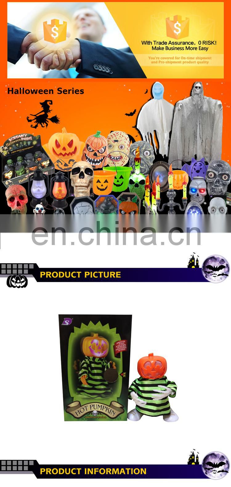Table decoration dance toy plastic halloween pumpkin figure