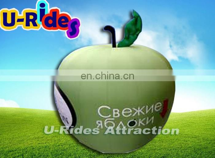 advertising green colour apple inflatable balloon for bussiness