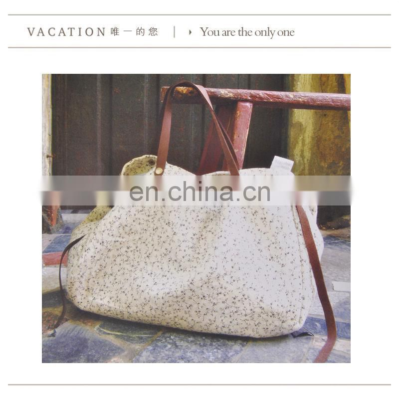 Canvas material cool handmade ladies bag