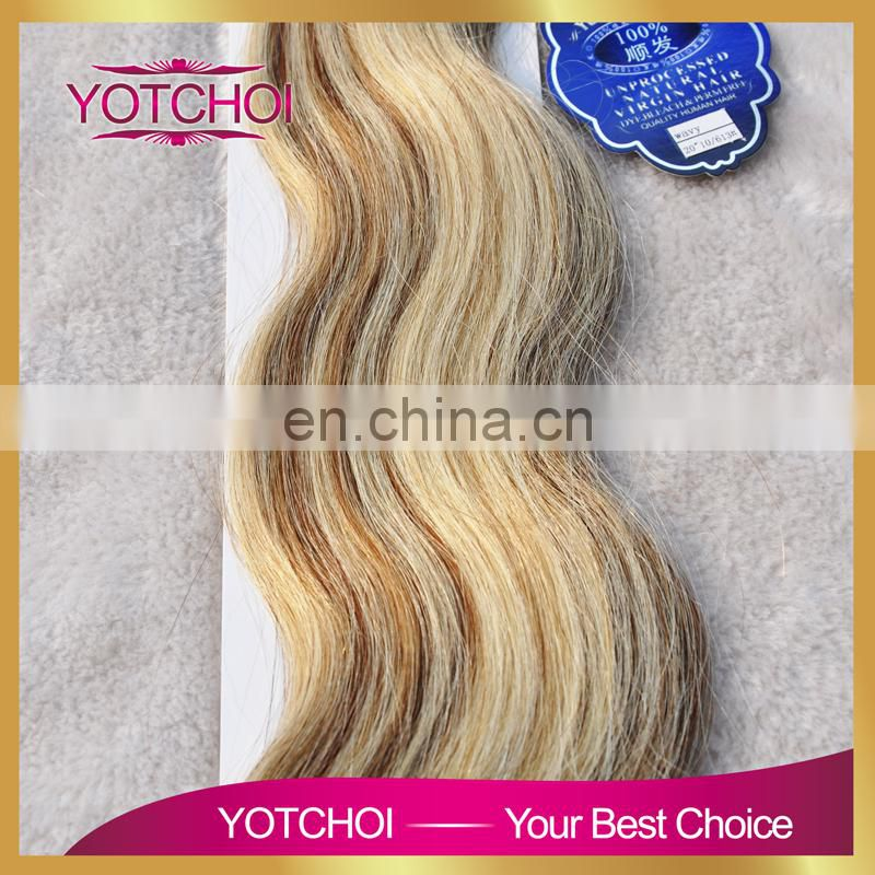Fashional product wholesale price high grade 100 virgin indian hair tape hair extension