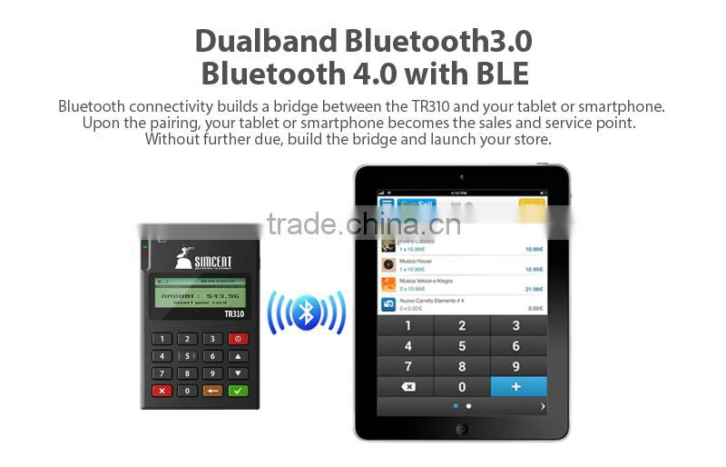 EMV certified mobile payment device POS bluetooth connected nfc for IOS Android phones