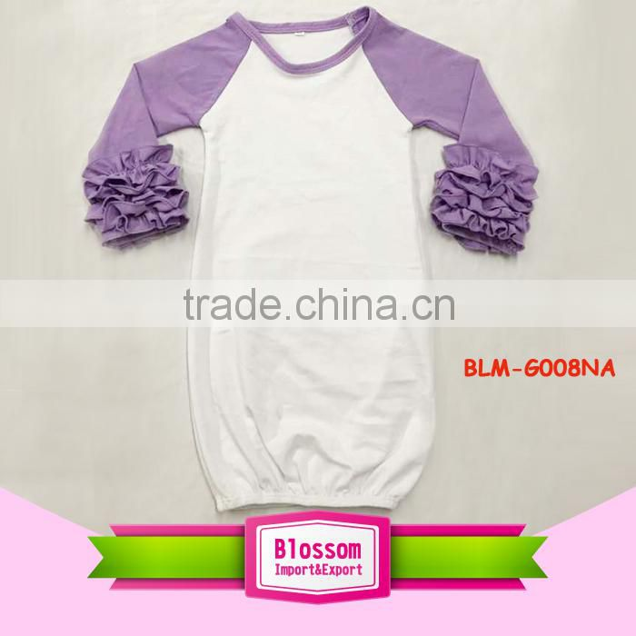 Wholesale christening gowns cotton icing ruffle raglan long sleeve ...