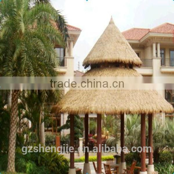 LXY081206 fire proof environmental friendly plastic synthetic thatch roof artificial bali thatch roofing