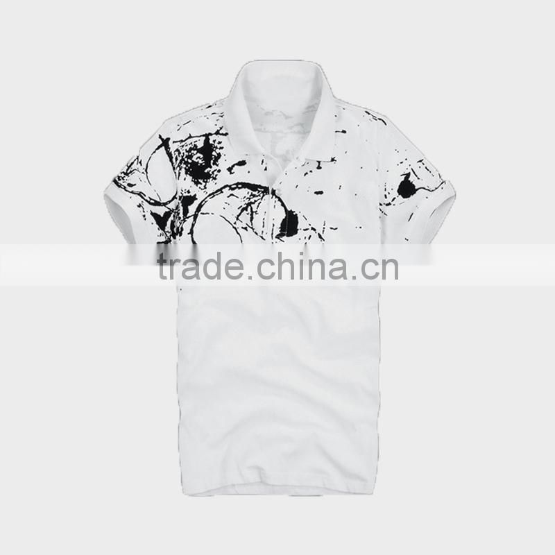 2015 Men's Polo Shirt with All Over Print