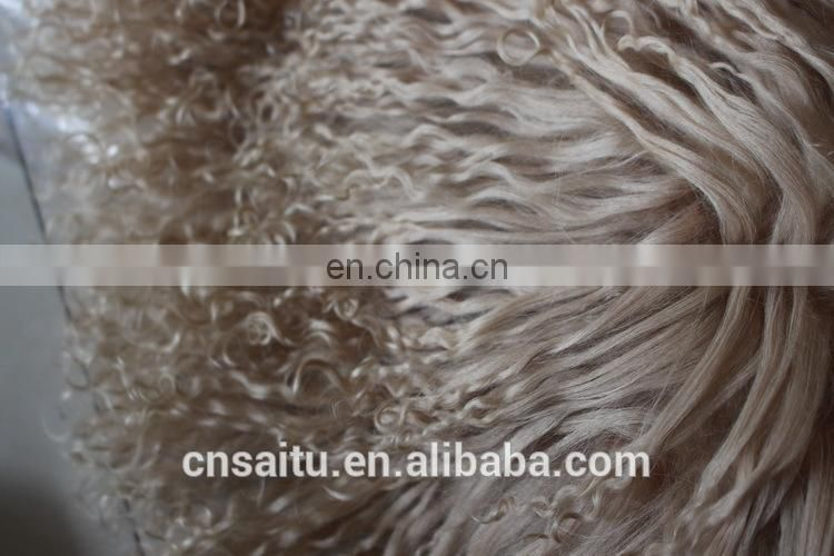 180x180cm Premium Mongolian Fur Throw Blanket Bedspread Shaggy Tibet Sheepskin