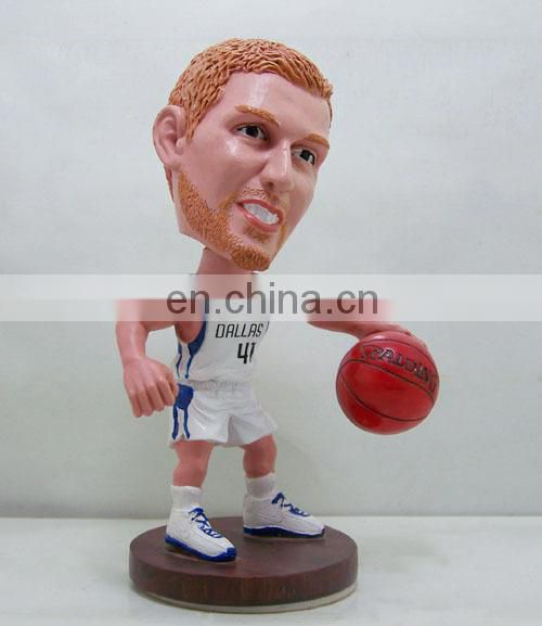 lovely custom bobblehead basket figurine
