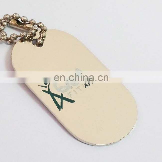 Wholesale enamel brass dog tags with ball chain / custom embossed dog tags