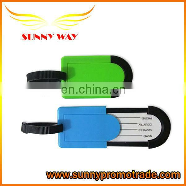 Hot sale ! colorful plastic luggage tag with LOGO