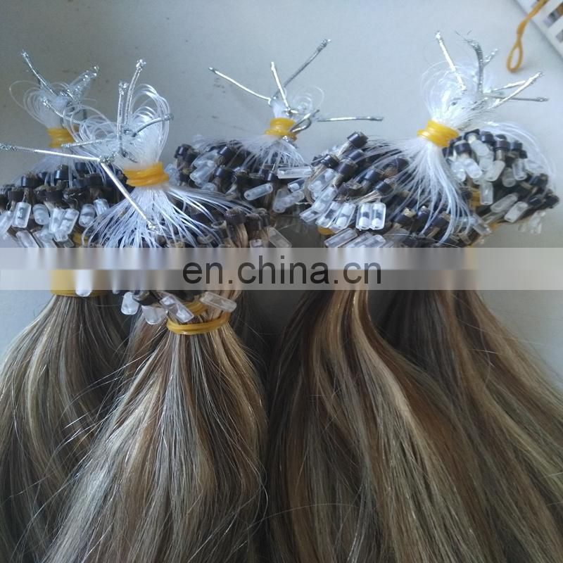 Grade 6a 7a 8a 9a pre-bonded hair extension hot selling 100% brazilian micro ring loop hair