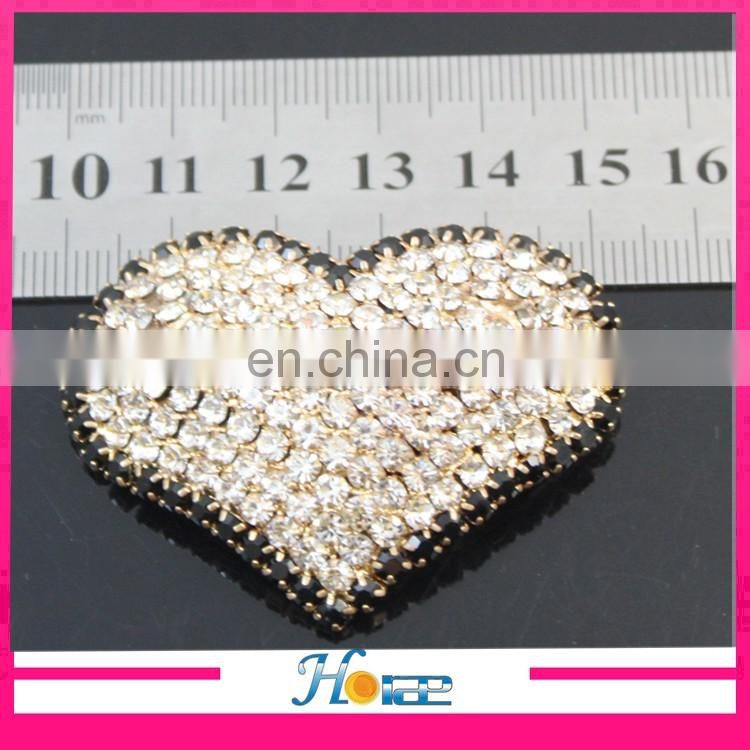 fashion heart Metal rhinestone shoe decoration footwear decoration Shoe Accessories Shoes Buckle
