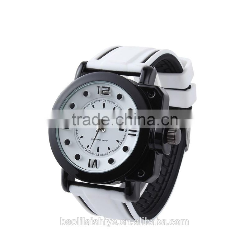 Bright shiny girls and boys silicone watch bracelet 2013
