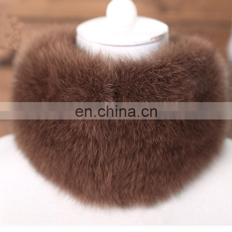 New product promotional price real fox fur neck warmer for lady girl winter
