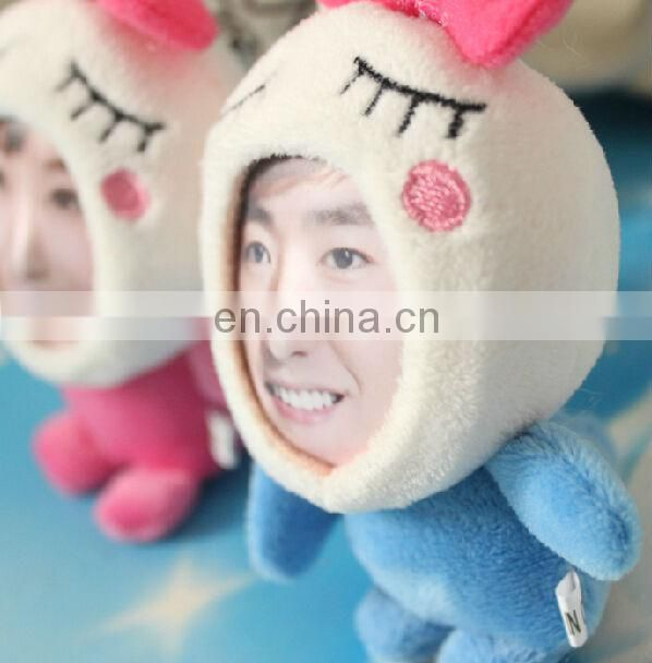 Custom lovely mini plush photo frame keychain toy