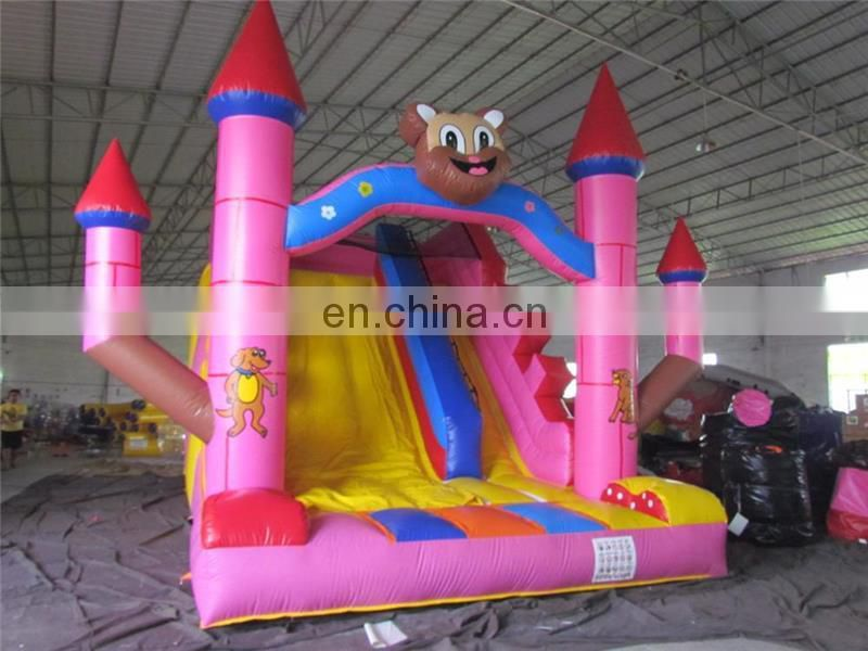 Commercial inflatable bouncy castle with water slide tobogan inflable castillos inflables TOP quality