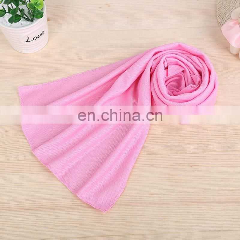 Wholesale Plain Colored Microfiber Sport Cooling Towel