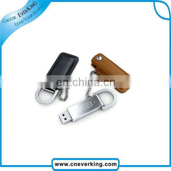 promotional product 32gb leather usb flash memory