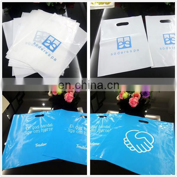 die cut handle loop plastic shopping bag