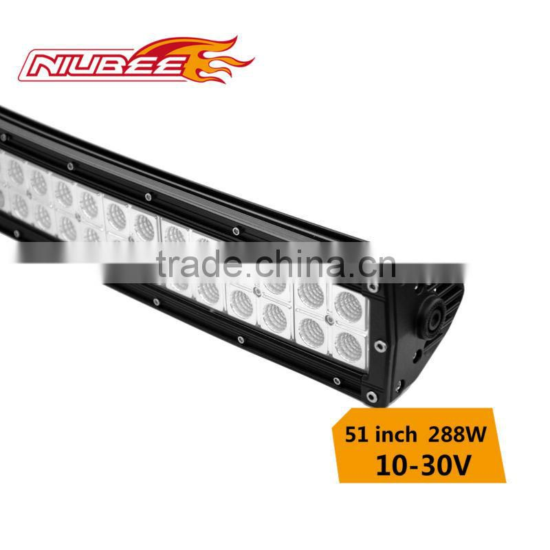 2016 Hottest and factory diretly! 96*3w/pc 50inch 288watts curved led light bar