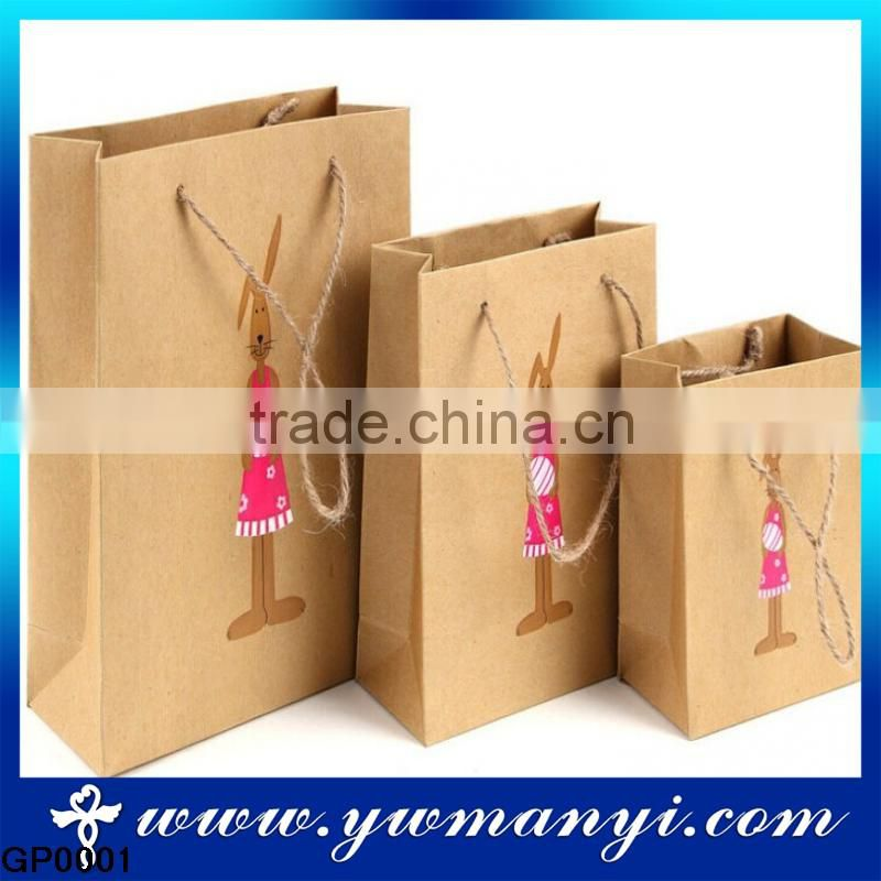 Customized factory price high quality kraft brown paper bag design for gift