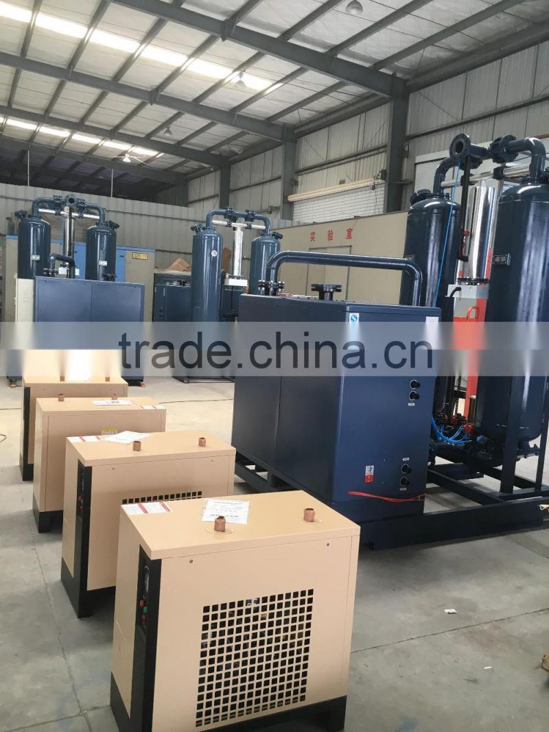 Industrial freeze dryer for air compressor