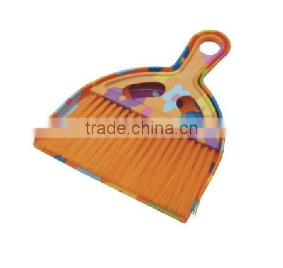 plastic folding broom and dustpan set