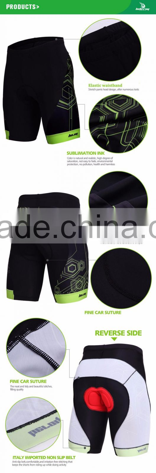 BEROY custom men's cycling shorts,wholesale cycling gel padded bicycle shorts
