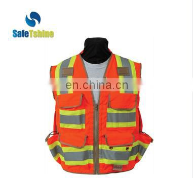 Hi Vis wholesale good quanlity ANSI 107 reflective safety vest with pockets