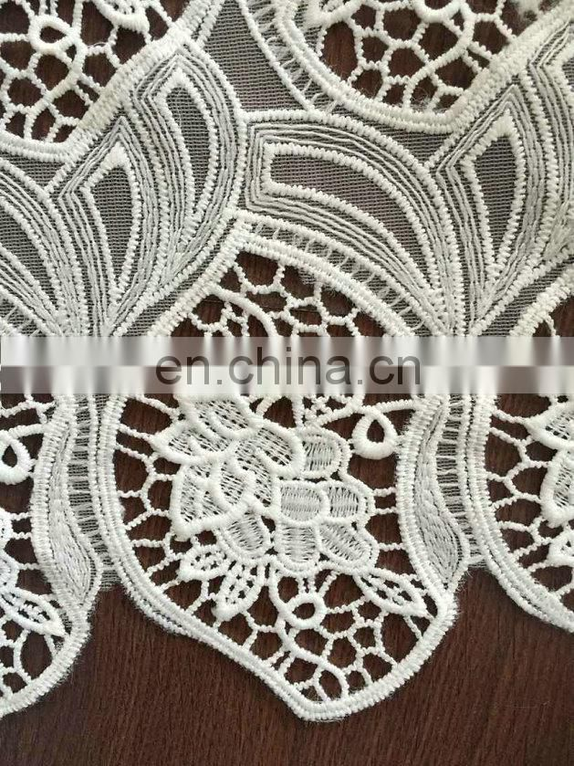 chemical embroidery lace fabric for wedding dress