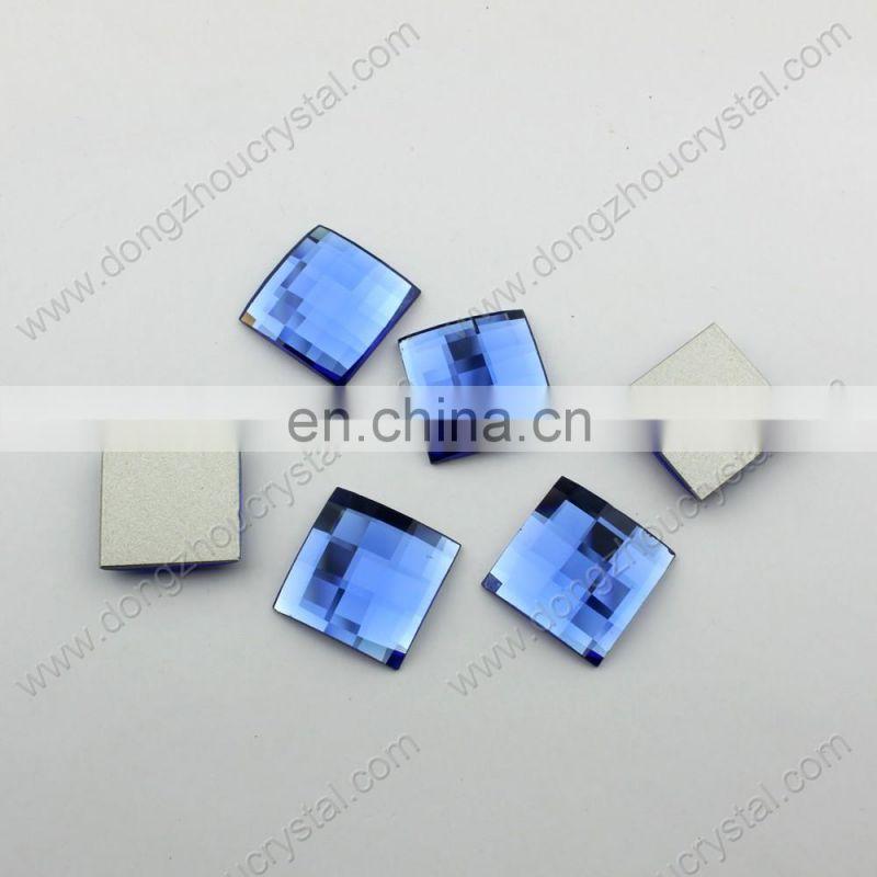 DZ-1039 flat back crystal square cut glass stones for clothes