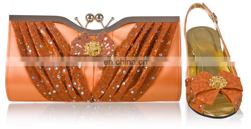 2014 hot sell fasion ladies shoes and matching bags summer