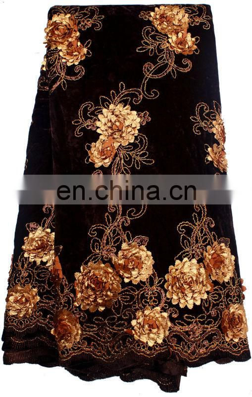 african lace velvet with beautiful adge