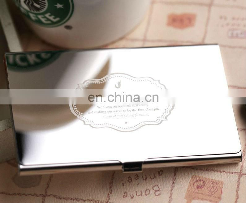 2013 printing business name card holder/name card case with logo ...