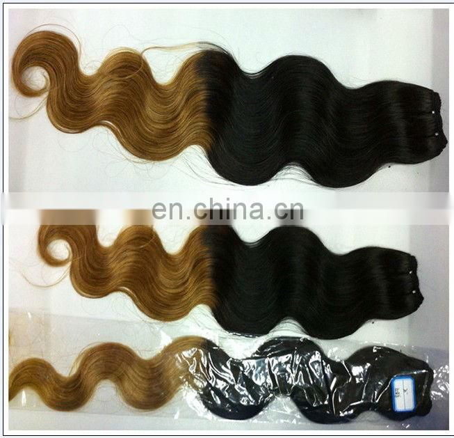 Two Tone Hair 5A 100% Natural Brazilian Blonde Wavy Remy Weave