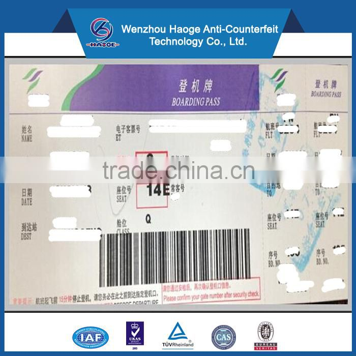 Airline thermal boarding pass ticket,luggage tags labels parking ticket printing