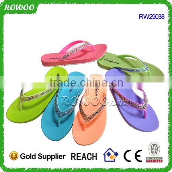 Fancy popular solid color New summer cheap flip flops