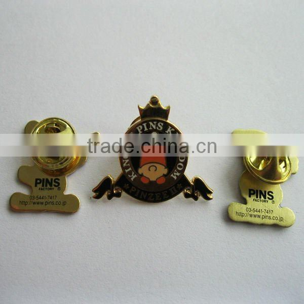 Key shape metal badge