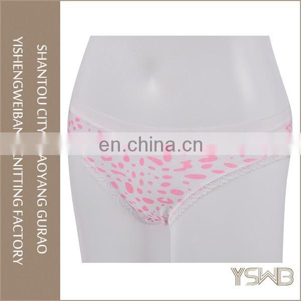 Cotton breathable pink low waist girls panty cheap wholesale women underwear