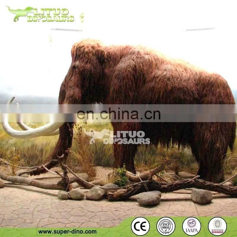 Life Like Animals Outdoor Park Exhibition Animatronic Mammoth