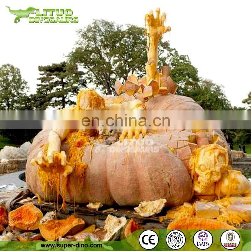 Amusement Park Silicone Rubber Pumpkin Sculpture