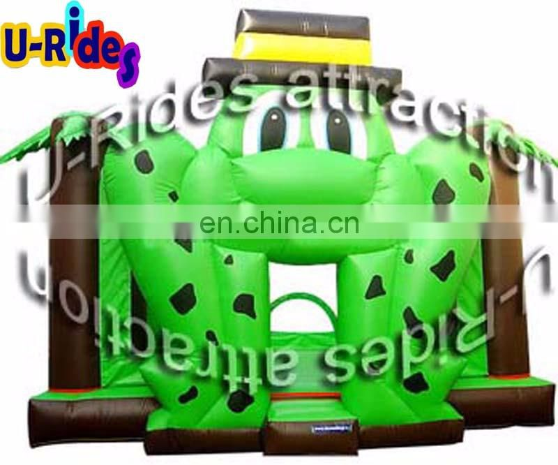 Green Frog inflatable bouncer for Amusement park